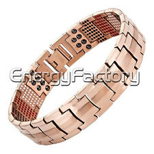MAGNETIC HEALTH BRACELET MENS R.GOLD BANGLE ARTHRITIS UK STYLISH PAIN RELIEF