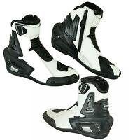 New Motorcycle Leather Boots Mens Motorbike Waterproof Bikers Racing Sport Shoes