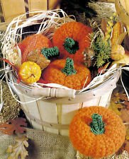 AUTUMN Basket of Pumpkins/Decor/Crochet Pattern INSTRUCTIONS ONLY