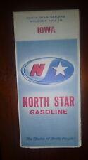 1964 Iowa  road  map North Star  oil  gas Oskey Bros