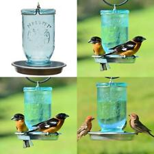Blue Mason Jar Decorative Glass Bird Waterer - 32 oz. Capacity