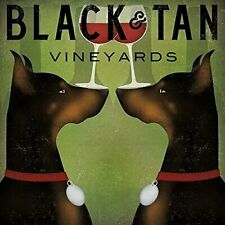 Black & Tan Vineyards -Double Doberman Pinschers Wine by Ryan Fowler 12x12 Print