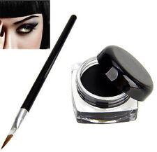 1X Beauty Waterproof Eyeliner Shadow Gel Eye Liner Makeup Cosmetic + Brush Black
