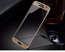 Full Curved 3D Tempered Glass Screen Protector For Samsung Galaxy S7 : Gold