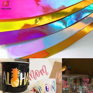 Holographic Opal Vinyl Permanent Craft Adhesive Vinyl Cup Decor for Cricut Xmas