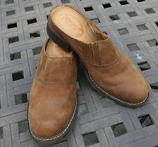 Timberland Suede Slip On Clog Mule, Slide, Women's Size 6 1/2 M Tan