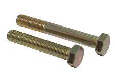 M12 x 1.5 Metric Fine Bolts Sets Hex Head 10.9 Grade Yellow Zinc Plated DIN 960