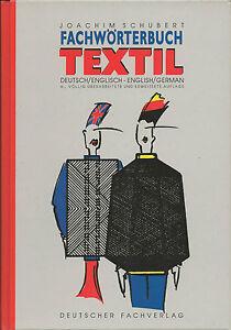 Rarität:Fachwörterbuch TEXTIL, deutsch/englisch, J.Schubert Deutscher Fachverlag