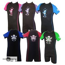 TWF PIRATE SEAHORSE JUNIOR SHORTIES kids beach UPF50+ girls boys wetsuit ref 6