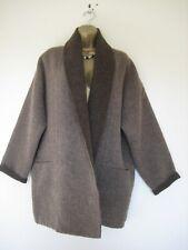 Peruvian Connection brown reversible alpaca and wool coat size Medium UK 12-14