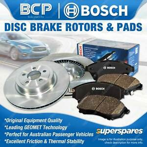 Front BCP Disc Rotors + Bosch Brake Pads for Honda Accord CP2 CP3 2.4L 3.5L