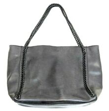 MOSSIMO TOTE Handbag SHOULDER bag Purse CHAIN GRAY FAUX LEATHER LARGE EXCELLENT