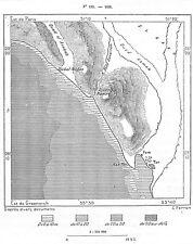 "ISRAEL "" CARTE MAP / JERUSALEM / ABU TOR  "" GRAVURE ENGRAVING 1884"