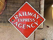 vintage Railway Express Agency porcelain sign