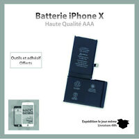 Batterie iPhone X interne 0 cycle Haute Qualité + Adhésif batterie original