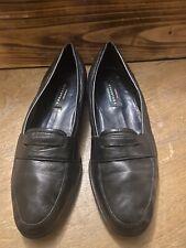 Avventura Men's Genuine Lambskin Navy Slip On Penny Loafer Shoes Sz 12 Handmade