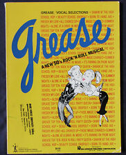 Grease Vocal Selections from the Broadway Musical - 15 Songs - (Vg+)
