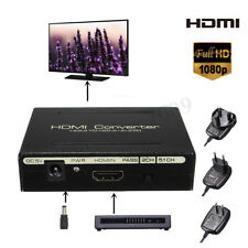 1080P HDMI to HDMI + SPDIF + RCA L/R Audio Splitter Converter Adapter 5V  new