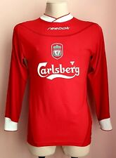 Liverpool2002 - 2004Home football Reebok long sleeve Jersey #10