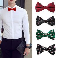 Christmas Boy Men Bowtie Necktie Bow Tie Adjustable Festival Party Decor Gift