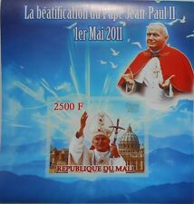Beatification of Pope John Paul II / Religion s/s Mali 2011 MNH #ML4211 IMPERF