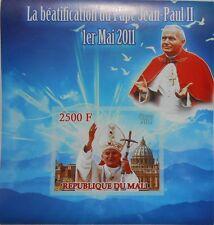 Beatification of Pope John Paul II / Religion s/s Mali 2011 MNH #ML4211 IMPERF