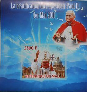 Beatification of Pope John Paul II / Religion s/s 2011 MNH #ML4211 IMPERF