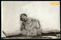 sweet girl as ballerina, dance costume, Vintage Photograph, 1920's Hungary