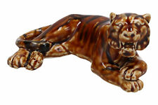 A vintage Chinese pottery treacle glaze tiger