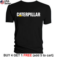 Caterpillar T-Shirt CAT Logo Tractor Equipment Bulldozer Construction Men