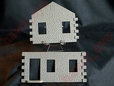 Plasticville House Under Construction 2 House Pieces Gray O-S Scale HTF