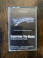 Superman The Movie Original Soundtrack Cassette Tape Warner Bros 2K5 3257 Vtg