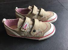 Levi's  Sommerschuhe Jungen Stoffschuhe Sneaker Klett Gr. 32 Kaki Beige NEU OVP