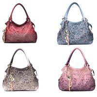 Women Shoulder Bags Handbag Hollow Purses Casual Tote Hobo Bag Faux Leather Hot