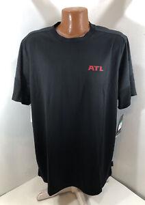 Atlanta Falcons ATL Nike On Field Apparel Dry Crew T Men's Size XL Black UPF 40+