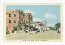 South Railway Street—Medicine Hat Alberta—Rare Antique Pc 1930s