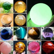 Rare Natural Quartz Crystal Magic Sphere Minerals Reiki Healing Ball Stone Lot