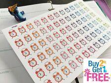 PP260 -- Small Alarm Clocks Life Planner Stickers for Erin Condren (72pcs)