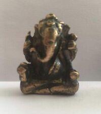 SUPERBE GANESH DIEU Talisman amulette en bronze figurine Thaïlande Asie T116