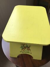 Childs Wooden painted Stool 25cmlong 16cm High