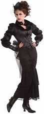Ladies Classy Steampunk Victorian Burlesque Western Fancy Dress Costume Outfit