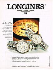 PUBLICITE ADVERTISING 025  1995  GOLDEN WING   les  montres  LONGINES