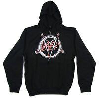 Slayer Pentagram Black Zip Up Sweatshirt Hoodie New Official Band Merch