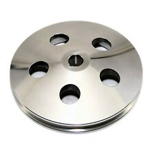 Power Steering Pump Pulley Polished Aluminum Chevy GM – 1 Groove Bolt on Keyway
