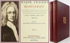 1889*MAJOR FRASER'S MANUSCRIPT*LORD LOVAT*JACOBITE REBELLION*SCOTTISH HISTORY*