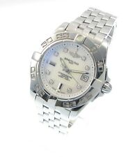 Breitling Windrider Galactic 32 Stahl Chronometer-Mother of Pearl Diamantblatt
