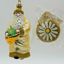Patricia Breen Christmas Ornament Santa of the Daisies # 9899 Gold Year 1998