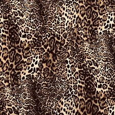 100% Superior Cotton Poplin Fabric  Animal Wild Cat Leopard Print Rose & Hubble