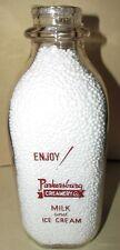 Parkersburg Creamery Co. Parkersburg West Virginia W VA Sq Qt Milk Bottle ENJOY!