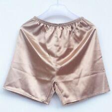 Masculino Seda Cetim Shorts sentir Roupas Íntimas Calcinhas Cuecas Boxer Sunga Pijamas Confortável